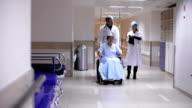 The nurse clarifies information about a patient video
