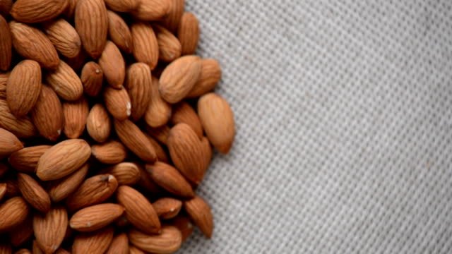 The nut almond rotates on the turntable. video