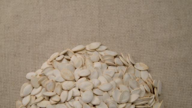The nut pepitas rotates on the turntable. video