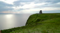 The OBriens Tower facing the ocean  Ireland video