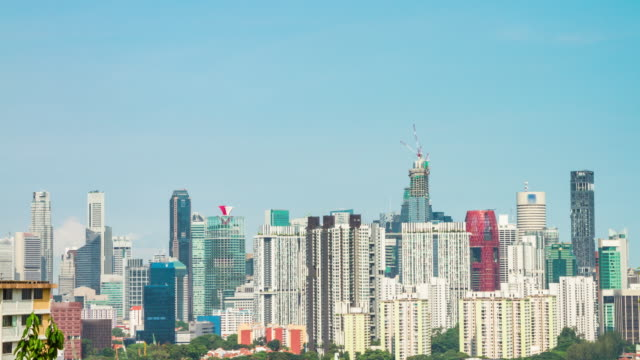 4K TIME LAPSE : The office building at Singapore (APPLE ProRes. 422(HQ) 4096X2160 FORMAT). video
