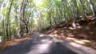 the old road through hilly terrain, GoPro video