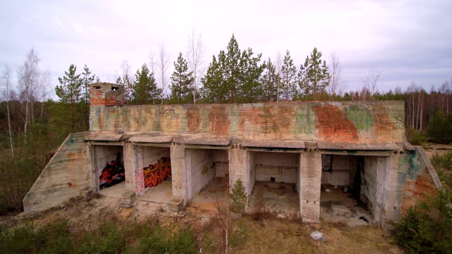 The old soviet military bunker that is already ruined video