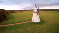 The old windmill on the side of the road video