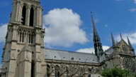 The outside look of the Notre Dame Cathedral video