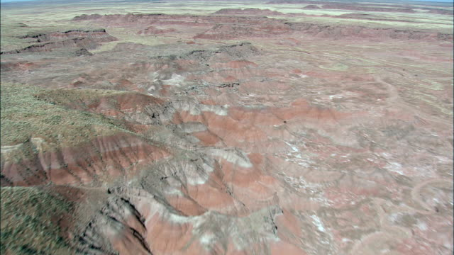 the Painted Desert In Petrified Forest National Park  - Aerial View - Arizona,  Apache County,  United States video