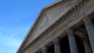 the Pantheon in Rome: monument, tourism, city center, video