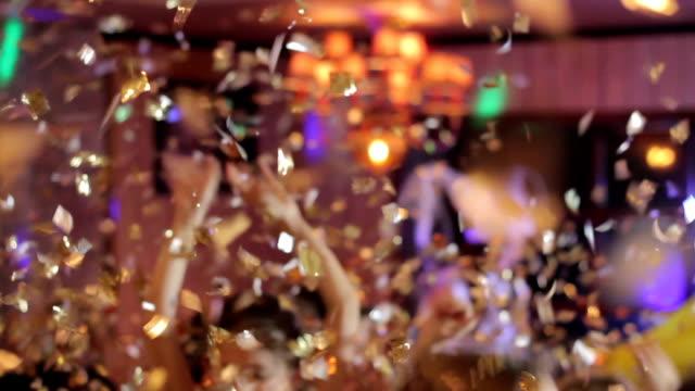 The paper shows confetti video