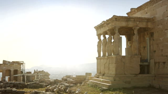 The Parthenon of Athens: Caryatid in Acropolis video