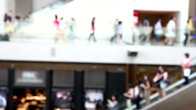 The people at shopping mall, Singapore. video