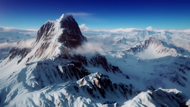 The perfect mountain aerial shot video