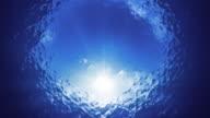 The perfect underwater sunshine shot 4k video