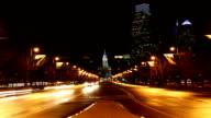 The Philadelphia City center, day to night timelapse video