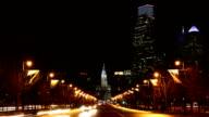 The Philadelphia City center traffic flowing video