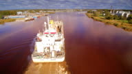 The Pinta Brugge ship going through the harbor video