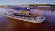 The Pinta ship slowly crossing the harbor video