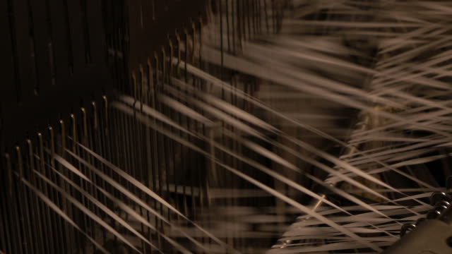 The plastic weave machine working on process video