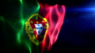 The Portugese Flag - Background Loop (Full HD) video