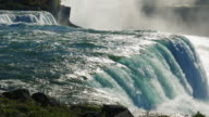 The powerful energy of nature - Niagara Falls. The view from the American side. In the picture, one can see at once two waterfalls ProRes HQ 422 10 bit video video