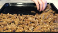 The preparation of rusks from rye bread video