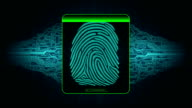 the process of fingerprint scanning - digital security system, the result of the fingerprint scan access denied video