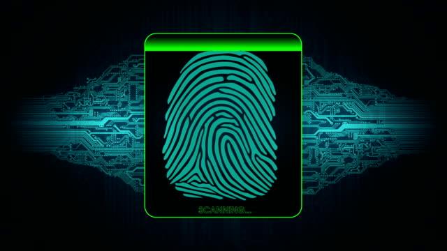 the process of fingerprint scanning - digital security system, the result of the fingerprint scan access denied video