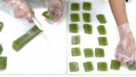 The process of making Thai dessert, Multi Layer Sweet Cake video
