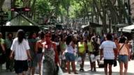 The ramblas in Barcelona video