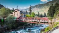 The red bridge in Old Manali, Himachal Pradesh, India video