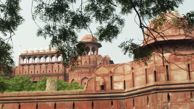 The Red Fort Lal Qila , a historical fort in the city of Delhi, India. UNESCO world Heritage Site. video