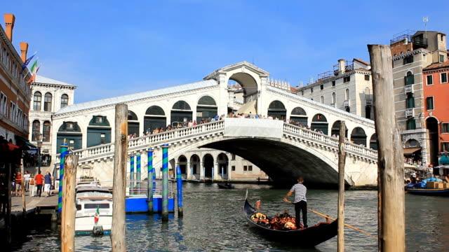 HD 1080 :  The Rialto Bridge - Venice video