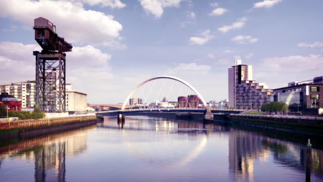 The River Clyde Arc Bridge, Glasgow, Scotland video
