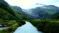 The river Rhone near Gletsch video