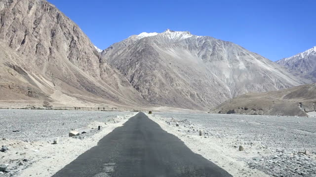 The roads of Ladakh near Leh in India video