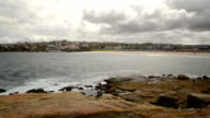 The rocky shores of Hunter Park, Bondi, Sydney Australia video