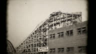 The Roller Coasters, Coney Island 1927. 16mm (HD1080) video
