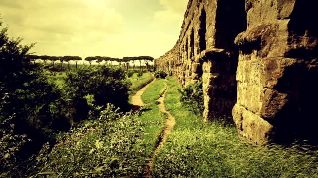 The Roman Aqueduct at Parco degli Acquedotti video