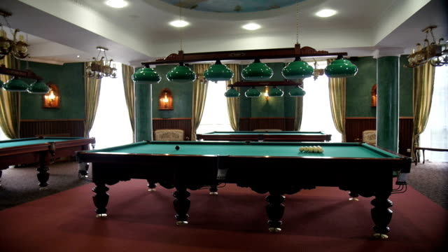 The room in which there is a pool table video