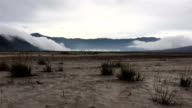 the sand sea of Mt.Bromo timelapse with storm clouds passing by video