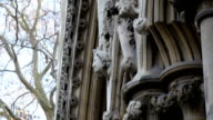 The sculpted walls of the Westminster Abbey church video