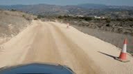 The serpantine road and great landscape from riding car video