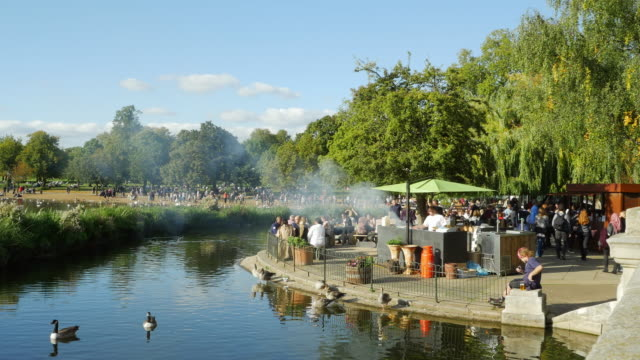 The Serpentine In London Hyde Park (UHD) video