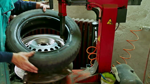 The service at Tire repair video