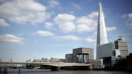 The Shard and London Bridge from the Thames embankment. video