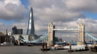 The Shard and Tower Bridge - London, England video