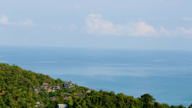 The sky over Pacific ocean. Daytime timelapse. Island and Exotic Beach in Thailand, Maui. video