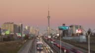 The Skyline of Toronto during the Sunset 4K video