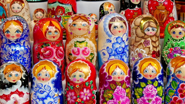 The small russian dolls known as matryoshka video