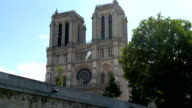 The sneek view of the Notre Dame Cathedral video