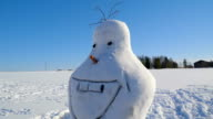 The snowman that looks like Olaf video